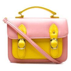 Anne Kokke กระเป๋าสะพายข้างSatchel รุ่น Aky03 Pink Yellow ใน กรุงเทพมหานคร