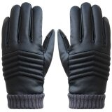 ขาย Anti Slip Men Thermal Winter Sports Leather Touch Screen Gloves Intl
