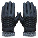 ราคา Anti Slip Men Thermal Winter Sports Leather Touch Screen Gloves Intl ใหม่