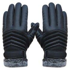 ซื้อ Anti Slip Men Thermal Winter Sports Leather Touch Screen Gloves Intl Unbranded Generic