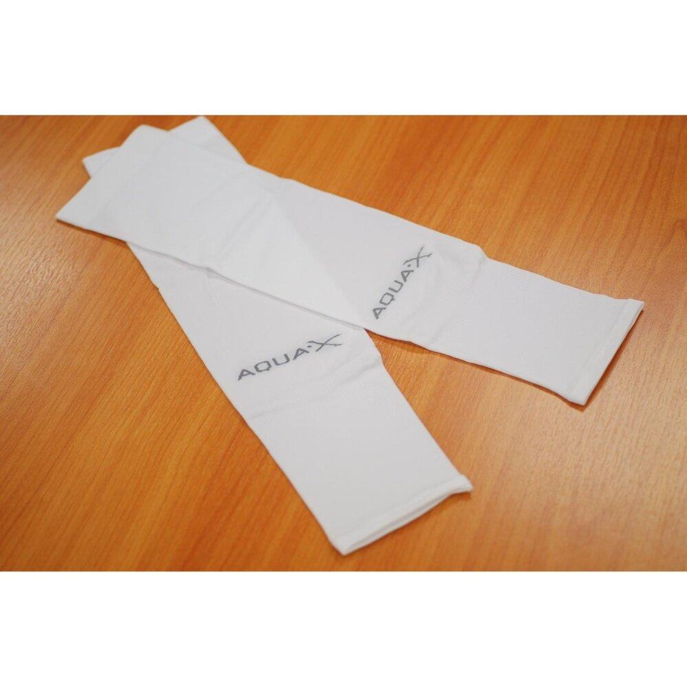 ปลอกแขน Aqua-x Ice Skin+UV CUT สีขาว