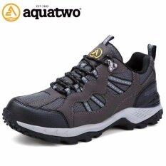 ขาย ซื้อ ออนไลน์ Aquatwo รองเท้าผู้ชาย รองเท้าเดินป่า รองเท้าวิ่งเทรล รุ่น304 สีเทา