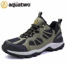 รองเท้าเดินป่า รองเท้าลุยป่า กันน้ำ ผู้ชาย Aquatwo รุ่น 304 (สีเขียว) By Choose Travel.