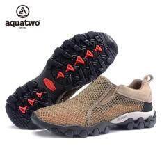 ซื้อ Aquatwo รองเท้าตาข่าย ทรงโปร่ง ระบายอากาศลดการอับชื่น รุ่น 957 สีน้ำตาล ถูก ใน กรุงเทพมหานคร