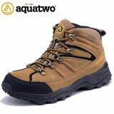 ขาย Aquatwo รองเท้าหุ้มข้อหนังแท้ Hiking Boots กันน้ำ ยึดเกาะดีเยี่ยมสำหรับปีนเขา เดินป่า ปั่นจักรยานเสือหมอบ รุ่น S943 สีน้ำตาลอ่อน ถูก กรุงเทพมหานคร