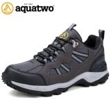 ราคา Aquatwo รองเท้าออกกำลังกาย รองเท้ากีฬา รองเท้าใส่วิ่ง หนังแท้ น้ำหนักเบา Running Shoes รุ่น S304 สีเทา Aquatwo