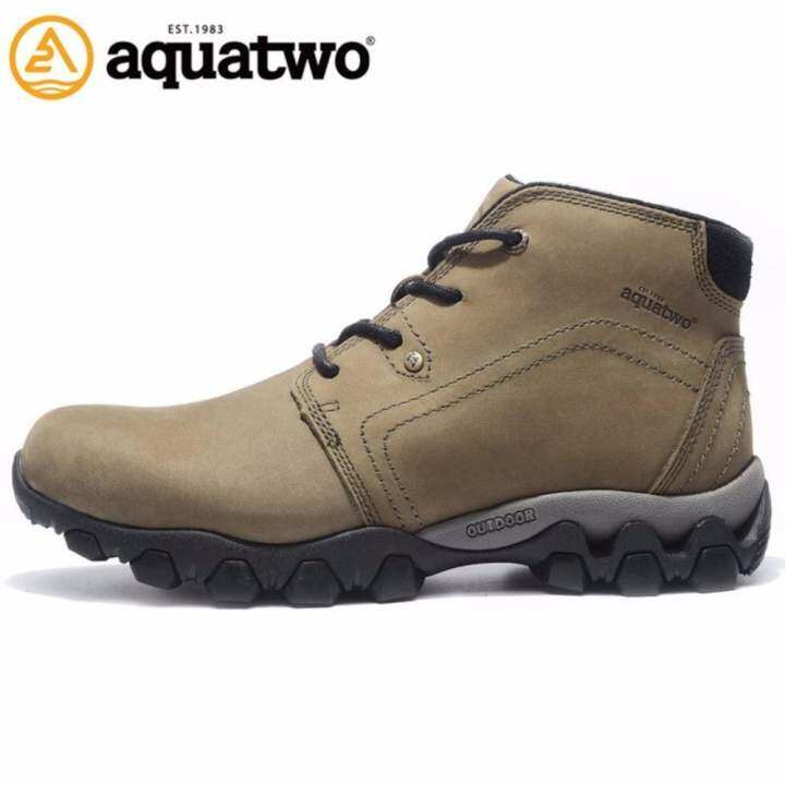 ราคา Aquatwo รุ่น S1022 รองเท้าหนังแท้ กันน้ำ100% สำหรับขา