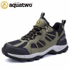 ราคา Aquatwo รองเท้าผู้ชาย รองเท้าเดินป่า รองเท้าวิ่งเทรล รุ่น S304 สีเขียว Aquatwo เป็นต้นฉบับ