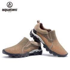 ราคา Aquatwo Shoes Relax Shoes รองเท้าลุยน้ำ เหมาะสำหรับหน้าฝน สภาพพื้นที่เฉอะแฉะ แห้งไว จะใส่เดินเล่นหรือใส่เดินป่าก็ได้ รุ่น S957 สีน้ำตาล ออนไลน์ Thailand