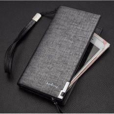 ขาย ซื้อ Areeya Shop แฟชั่น กระเป๋าสตางค์ทรงยาว คุณภาพพรีเมี่ยม สีเงิน Baellery Wallet 205 Silver ใน Thailand