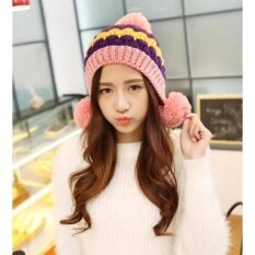 ราคา Areeya Shop หมวกไหมพรม หมวกถักไหมพรม หมวกกันหนาว Beanieunisex P119A Pink ใหม่ ถูก