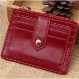 ขาย Areeya Shop แฟชั่น กระเป๋าใส่บัตรเครดิต บัตรประจำตัวประชาชน สีแดง Gubintu Wallet 214 Red ผู้ค้าส่ง