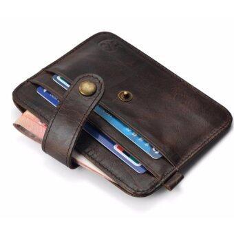 Areeya@Shop กระเป๋าใส่บัตรเครดิต/บัตรประจำตัวประชาชน สีช็อกโกแลต Wallet and Purse-218-Chocolate
