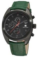 ขาย Armani นาฬิกาข้อมือ สีเขียว สายหนัง รุ่น Ar5936 Armani เป็นต้นฉบับ