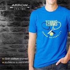 ส่วนลด Arrow เสื้อยืดสกรีน สีฟ้าเข้ม Arrow กรุงเทพมหานคร
