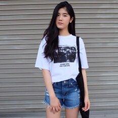 ซื้อ Artery Jeans รุ่นผ้านอก Blackberry Bb ขาสั้นเอวสูงกลาง ขาลุ่ยกีดขาด สียีนส์กลาง ออนไลน์