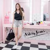 ซื้อ Artery Jeans รุ่นผ้านอก Fume ฟูเม่ ขาสั้นเอวสูง ขาลุ่ยกีดขาด สีเทาฟอก ไทย
