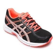ราคา Asics Women รองเท้าผ้าใบ ผู้หญิง รุ่น Gel Contend 4 T765N9093 Black Silver Flash Coral ใหม่ ถูก