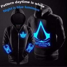 ขาย ซื้อ Assassin S Creed ผู้ชายผู้หญิงคอสเพลย์ส่องสว่างมีฮู้ดเสื้อซิปแจ็คเก็ตข้นหมวกฤดูใบไม้ร่วงและฤดูหนาว จีน