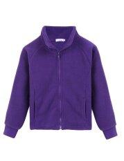 ซื้อ Astar Kids G*rl Stand Neck Long Sleeve Solid Cute Fleece Jacket Purple Intl ใน จีน