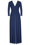 ขาย Astar Women Plus Size Long Sleeve Formal Prom Ball Evening Party Long Maxi Dress Blue Intl ผู้ค้าส่ง