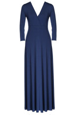 ราคา Astar Women Plus Size Long Sleeve Formal Prom Ball Evening Party Long Maxi Dress Blue Intl Unbranded Generic