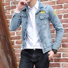 ส่วนลด ฤดูใหม่ผู้ชายแขนยาวแจ็กเก็ตยีนส์สี Unbranded Generic จีน