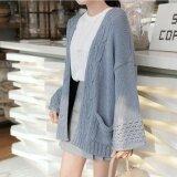 ซื้อ Autumn Autumn Winter Women S Long Sweater Cardigan Wide Sleeve Loose Sweater Coat Grey Intl ถูก
