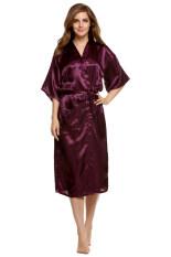 ราคา Azone Woman Silk Strappy Sleepwear Long Bath Robes Night Gown Pajamas เป็นต้นฉบับ