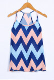 ขาย Azone Women Fashion Casual Loose Sleeveless Backless Wave Stripe Tank Cami Tops Intl ออนไลน์