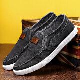 ซื้อ Ji Ji Mu รองเท้าลำลองผู้ชายพื้นเรียบผ้าแคนวาส B01 สีเทาเข้ม Oxford ด้านล่าง B01 สีเทาเข้ม Oxford ด้านล่าง Unbranded Generic ถูก