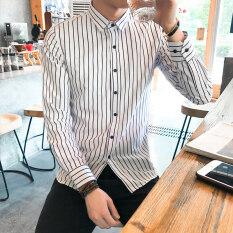 โปรโมชั่น เกาหลีรุ่นชายลายเสื้อ B15 สีขาว ฮ่องกง