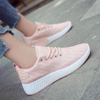รองเท้าแฟชั่นทรงสปอร์ตสไตล์เกาหลี B789 สีชมพู