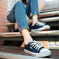โปรโมชั่น รองเท้าผ้าใบแฟชั่น B999 สีกรม
