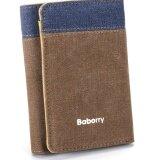 ราคา Baborry Canvas Wallet High Quality Fashion Leisure Canvas Men Long Wallet(Coffee) Intl ที่สุด