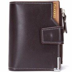 ขาย Baborry Men Zipper Wallet High Quality Men S Soft Pu Leather Bifold Wallet(Coffee) Intl ออนไลน์