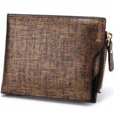 ขาย Baborry Mens Zipper Wallet High Quality Men S Soft Pu Leather Bifold Wallet(Gloden) Intl