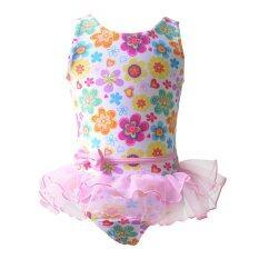 ราคา เด็กสาวพิมพ์ครบชุดว่ายน้ำฤดูดอกไม้สำหรับ Unbranded Generic ออนไลน์