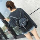 Backpack Women The New Student Sch**l Bag Leisure Travel Bag Black Intl ใหม่ล่าสุด