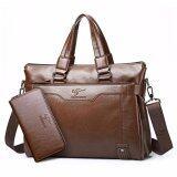 ซื้อ Badenroo Kangaroo Premium Pu Leather Men Messenger Bag Give The Purse Brown Intl ออนไลน์ ถูก