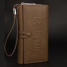 ราคา Baellerryกระเป๋าสตางค์ใบยาวสำหรับผู้ชาย สีกากี สีกากี ใหม่ล่าสุด