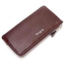 ซื้อ Baellerry C5505 กระเป๋าสตางค์ ทรงยาว ซิปรอบ บางเบา สีกาแฟ ฟรี กระเป๋าบัตร Baellerry