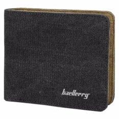 ขาย ซื้อ Baellerry Canvas Wallet High Quality Fashion Leisure Canvas Soft Pu Wallet(Black) Intl