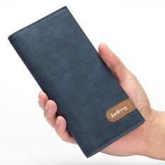 ซื้อ Baellerry กระเป๋าสตางค์ยาวผู้ชาย พร้อมช่องใส่บัตร สีน้ำเงินเข้ม Baellerry