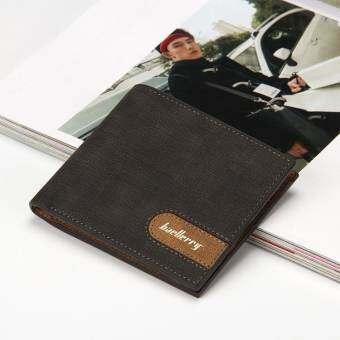 Baellerry กระเป๋าสตางค์หนัง ผู้ชาย กระเป๋าสตางค์แนวธุรกิจ กระเป๋าสตางค์ใส่บัตร - สีดำ-
