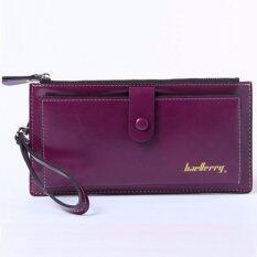 ทบทวน Baellerry กระเป๋า กระเป๋าสตางค์ ผู้หญิง กระเป๋าตัง กระเป๋าเงิน กระเป๋าใส่เงิน กระเป๋าใส่บัตร กระเป๋าใส่นามบัตร หนังกันน้ำ ทรงยาว Wallet For Women Lady Long Purple Baellerry