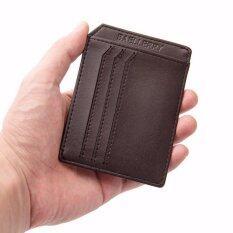ราคา Baellerry กระเป๋าใส่นามบัตร กระเป๋านามบัตร กระเป๋าบัตร ผู้ชาย หนังกันน้ำ บาง Card Holder For Men Brown Wlm040 ราคาถูกที่สุด