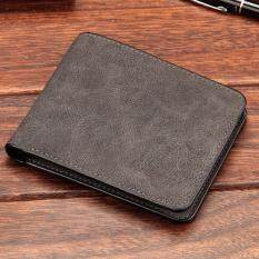 Baellerry กระเป๋าสตางค์ ผู้ชาย กระเป๋าเงิน กระเป๋าตัง บาง ทรงสั้น Wallet Mens Luxury Leather Credit Id Card Holder Baellerry Billfold Coin Purse Black กรุงเทพมหานคร