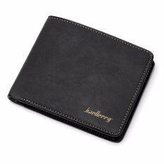 ราคา Baellerry กระเป๋าสตางค์ ผู้ชาย กระเป๋าเงิน กระเป๋าตัง บาง ทรงสั้น Wallet Mens Luxury Leather Credit Id Card Holder Baellerry Billfold Coin Purse Black ใหม่ล่าสุด