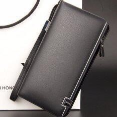 ขาย baellerry กระเป๋าสตางค์ ผู้ชาย กระเป๋าเงิน กระเป๋าตัง บาง ทรงยาว Men Wallet Business Style Long Pattern Pu Leather Wallet For Men Black Baellerry ใน กรุงเทพมหานคร